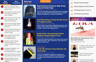 【经典网站】印尼Detik新闻门户网