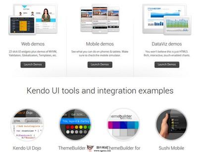 【经典网站】KendoUI:网站HTML5 UI框架开发平台