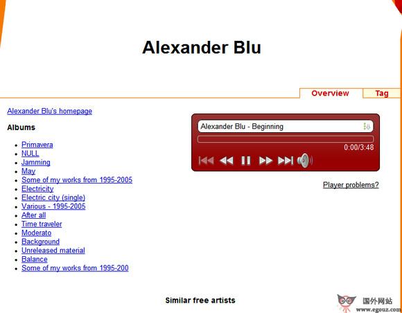 【经典网站】Libre.FM:基于关键词搜索的音乐网