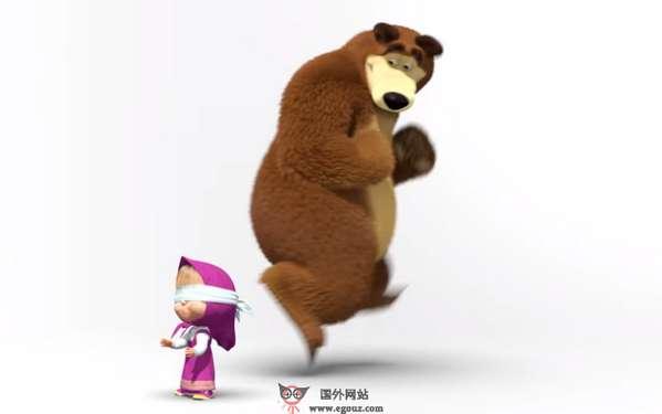 【经典网站】MashaBear:玛莎和熊儿童动画网