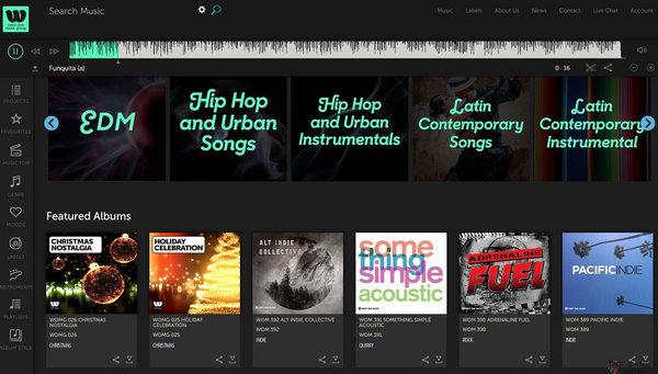 【素材网站】WestOneMusic:影视音乐素材网