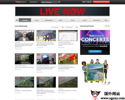 【经典网站】LiveStream:免费视频直播网