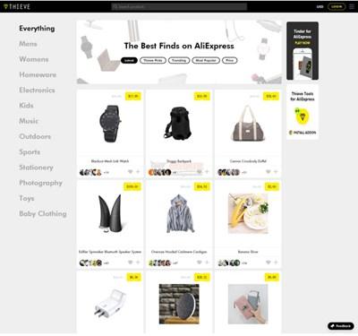 【经典网站】Thieve|基于速卖通优质产品导购网