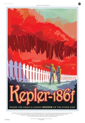 """【数据测试】NASA推出酷炫复古风""""地外行星旅游海报"""""""