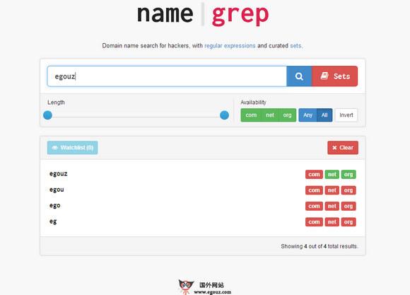 【经典网站】NameGrep:在线域名注册搜索引擎