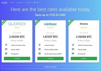 【经典网站】HubX|在线虚拟货币比价网