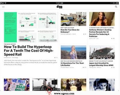 【经典网站】Digg:掘客互联网科技新闻网