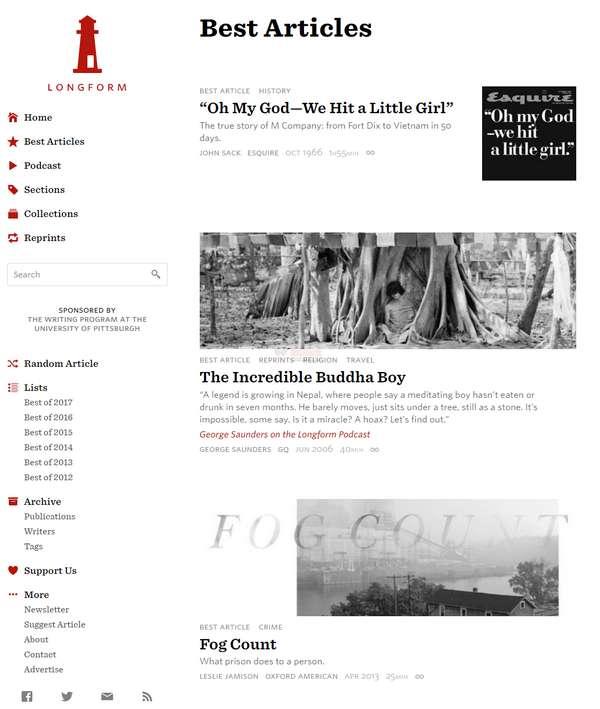 【经典网站】Longform|深度长文阅读订阅网