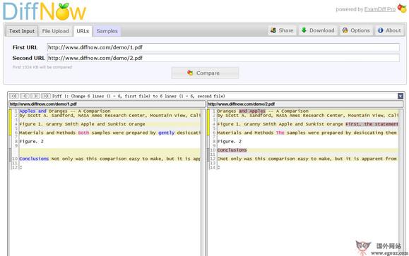 【工具类】DiffNow:免费在线文本代码比较工具