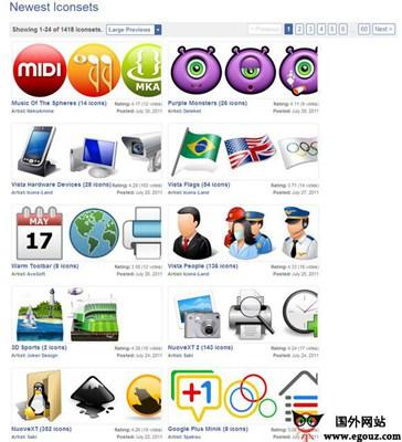 【素材网站】IconArchive:专业图标搜索引擎