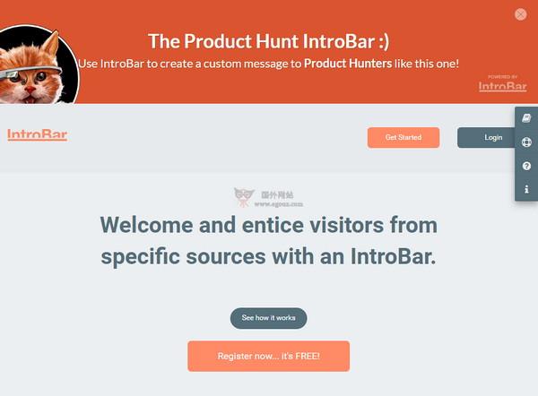 【工具类】Introbar:下拉式网站信息推荐工具
