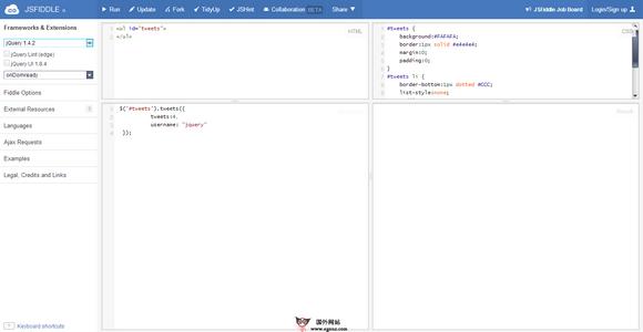 【经典网站】JSFiddle:在线JS代码调试工具