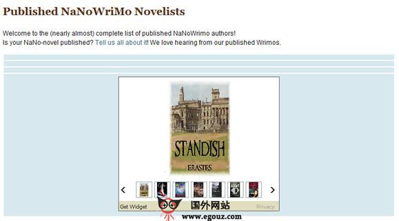 【经典网站】NanoWrimo:全民写小说创作平台