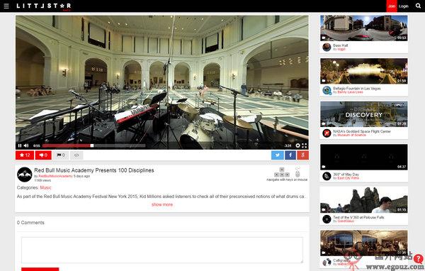 【经典网站】LittlStar:在线全景视频资源网