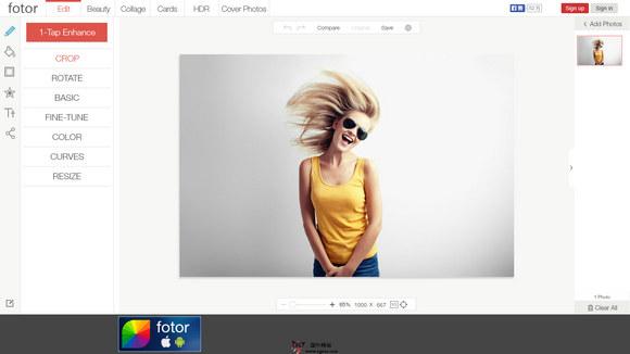 【工具类】Fotor:在线免费图片编辑美化工具