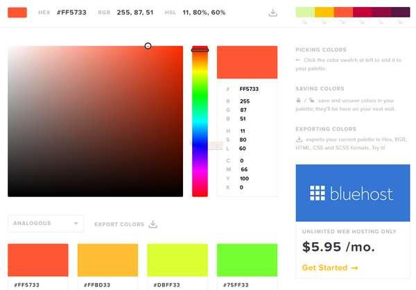 【素材网站】ColorCodes|在线HTML颜色代码分享网