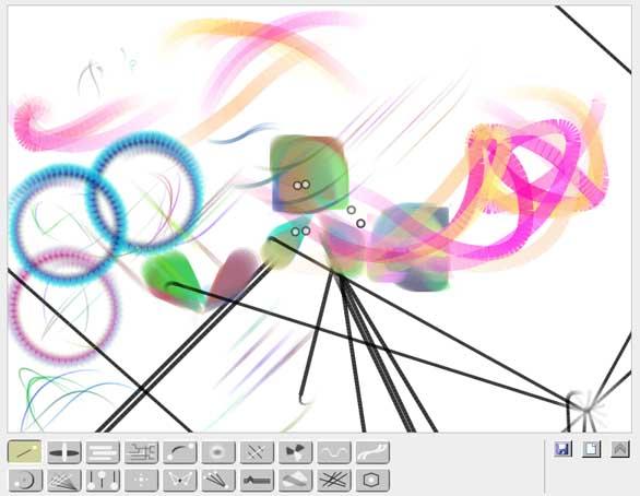 【数据测试】HTML5应用:Bomomo在线绘制抽象图画