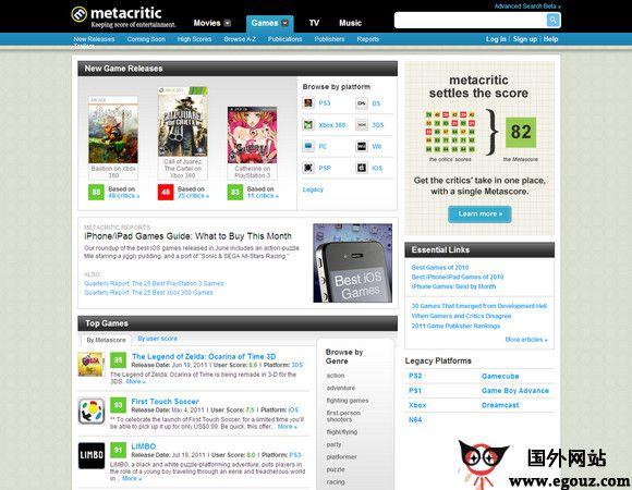 【经典网站】Metacritic:电影评分资讯评论网
