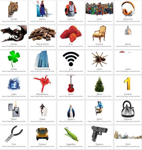 【素材网站】免费可下载PNG图片素材网 – FreePNGs