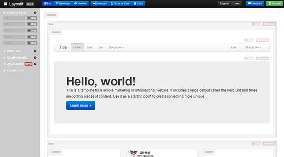 【工具类】Layoutit:在线可视化网站布局工具