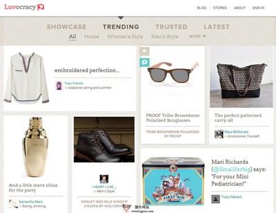 【经典网站】LuvoCracy:社会化购物推荐社区