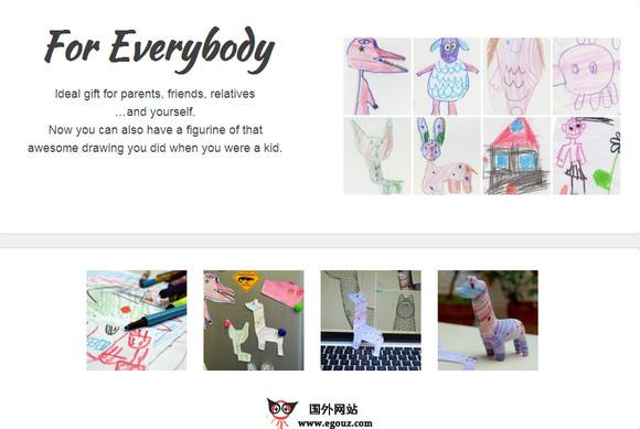 【经典网站】CrayonCreatures:儿童绘画3D打印技术平台