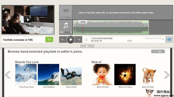 【经典网站】FriendlyMusic:在线视频配乐编辑工具