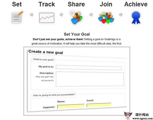 【经典网站】GoalMigo:在线目标实现社交平台