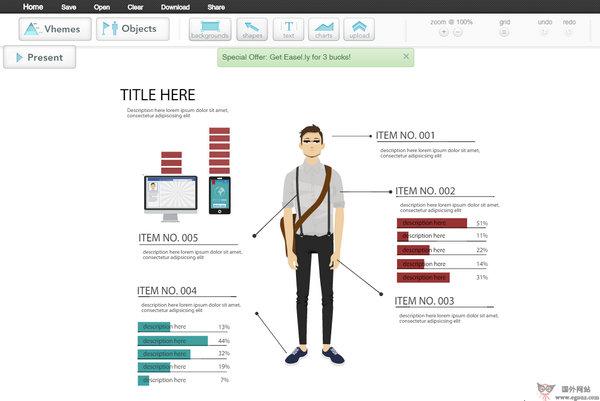 【工具类】Easelly:在线简报图表制作平台