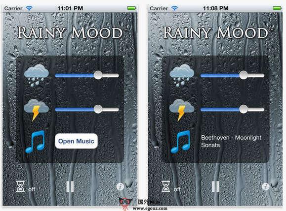 【经典网站】RainyMood:小资情调的听雨噪音网