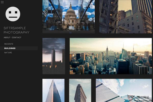 【经典网站】Siftr:摄影师网站架设服务网