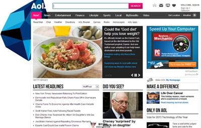【经典网站】美国AOL在线门户网