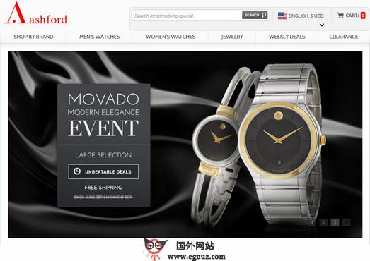 【经典网站】AshFord:在线名表折扣购物网官网