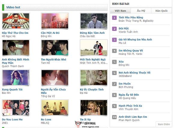 【经典网站】Mp3.zing.vn:越南音乐门户网