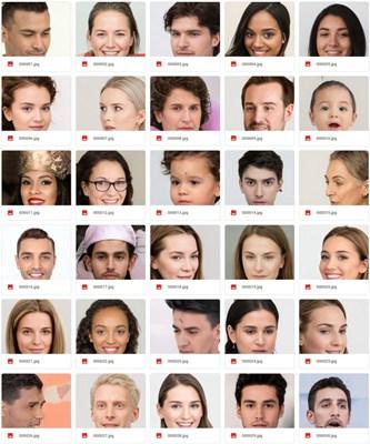 【素材网站】基于AI生成的脸部素材网