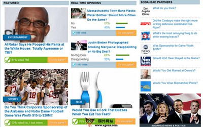 【经典网站】美国SodaHead新闻热点社区