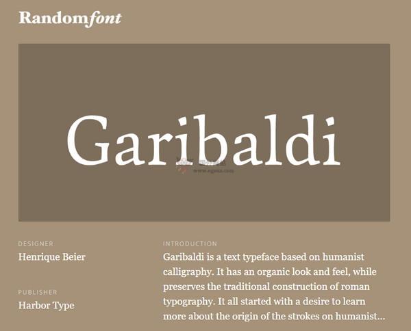 【经典网站】RandomFont:随机字体设计展示网