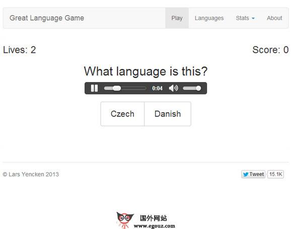 【经典网站】LanguageGage:伟大的语言游戏