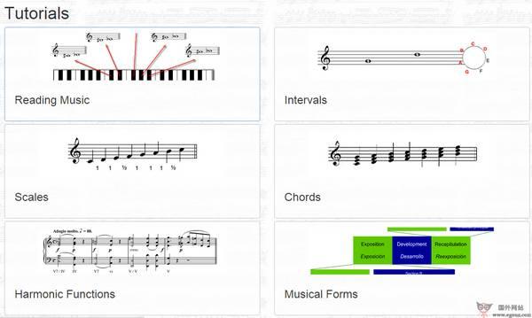 【经典网站】在线音乐理论教学网【Teoria】