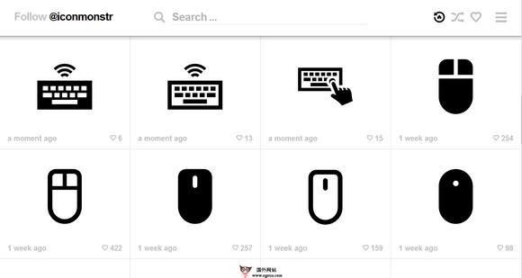 【素材网站】IconMonstr:免费简约素材图标下载站