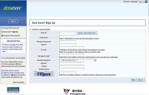 【经典网站】Dnsever:韩国免费DNS域名解析网