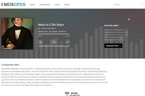 【经典网站】Musopen:在线乐器音乐资源网