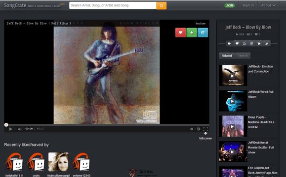 【经典网站】SongCrate:在线音乐视频搜索网
