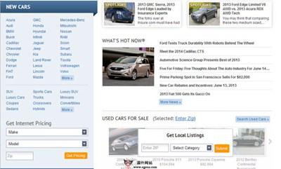 【经典网站】美国AutoBytel汽车销售平台