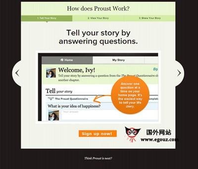 【经典网站】Proust:生活故事分享社交网