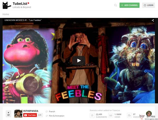 【经典网站】Youtube热门视频排行网【TubeList】