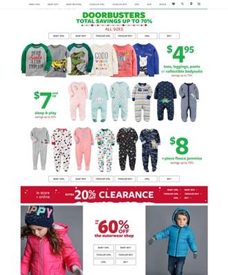【经典网站】Carters|孩特美国婴童装商城