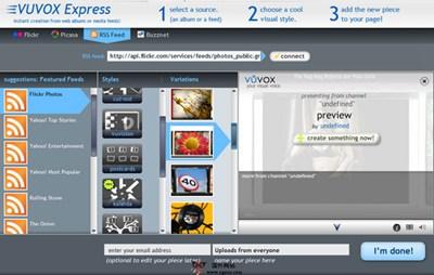 【工具类】Vuvox:在线多媒体混合工具
