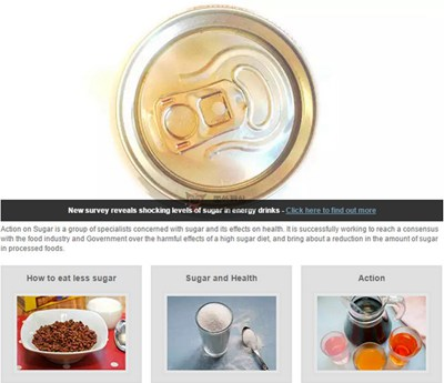 【经典网站】ActiononSugar:英国糖分调查组织
