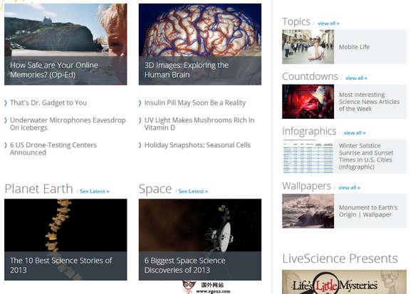 【经典网站】LiveScience:美国生命科学网